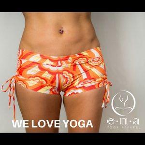 ENA Yoga Apparel Maya Short in Fiery Orange